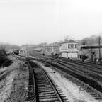 Crowhurst box and station looking from the South 1955 (Cullum)