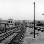 Crowhurst platforms looking South and box May 1954 (Cullum)